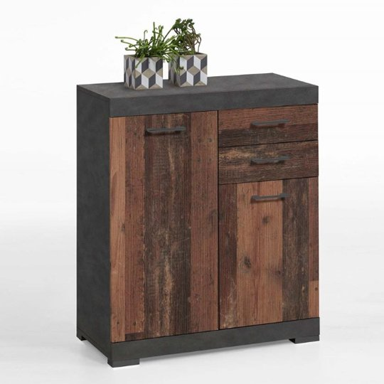 Holte Wooden Small Sideboard In Matera And Old Style Dark