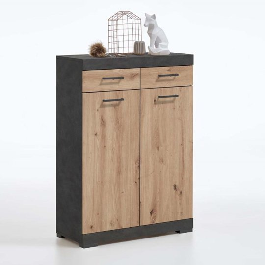 Holte Wooden Shoe Storage Cabinet In Matera And Artisan Oak
