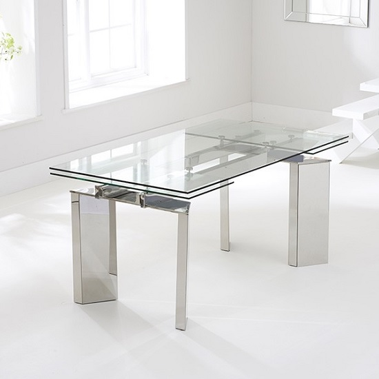Holte Extendable Glass Dining Table With Stainless Steel : holteextendableglassdiningtable4 from www.furnitureinfashion.net size 550 x 550 jpeg 45kB