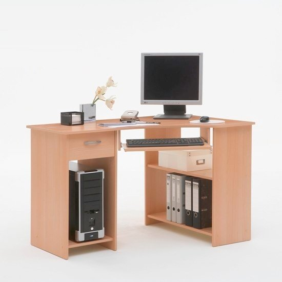 Felix Home Office Corner Computer Desk In Beech