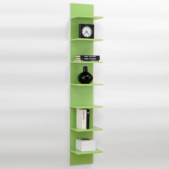 Point4 Wall Mounted Display Shelves In Green