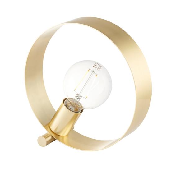 Hoop Metal Table Lamp In Brushed Brass