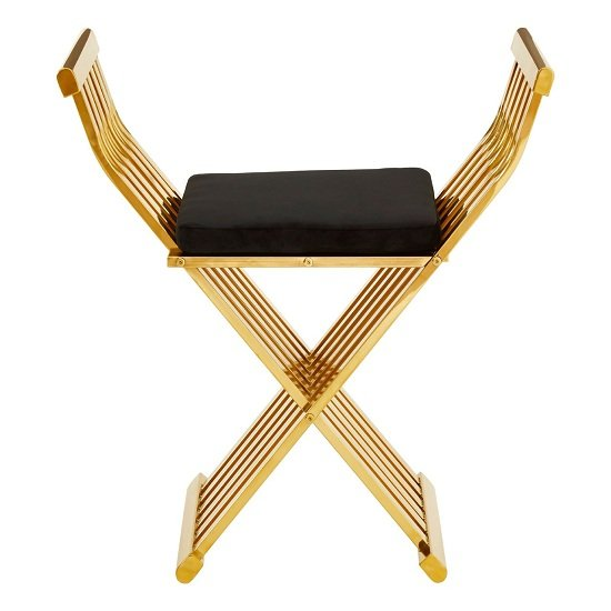 Fafnir Gold Cross Design Occasional Chair With Black Cushion   _2