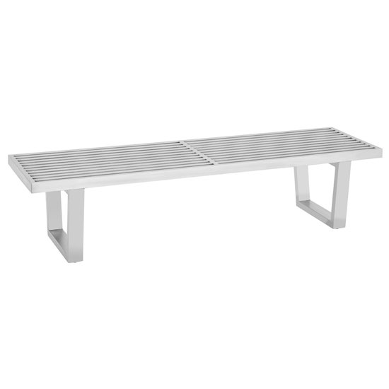 Fafnir Stainless Steel Hallway Bench In Silver