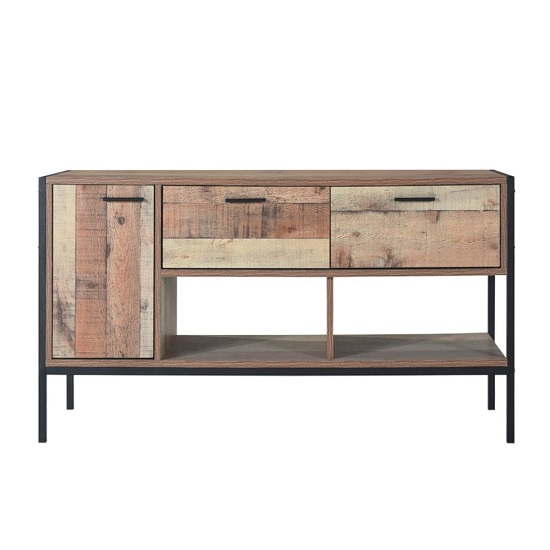 Hoston Traditional Style TV Stand In Distressed Oak Finish
