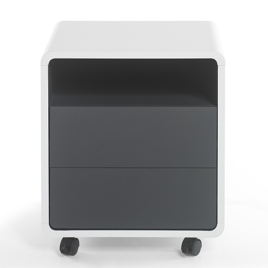 Houston Modern Office Pedestal In White And Anthracite_4