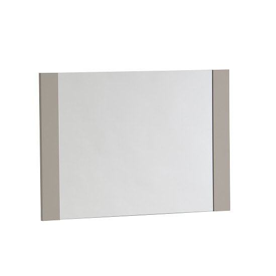 Houston Wall Mirror Rectangular In Grey Gloss