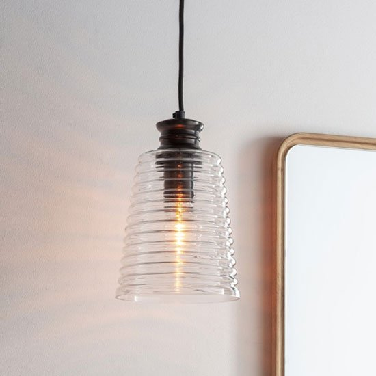 Howie Wall Hung Pendant Light In Clear