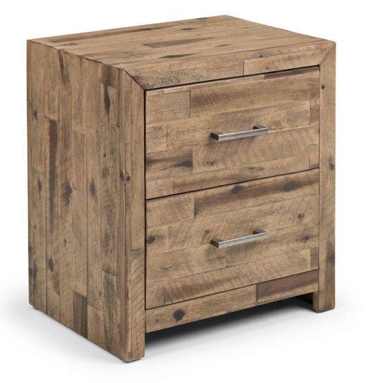 Hoxton Bedside Cabinet In Rustic Oak With 2 Drawers_2