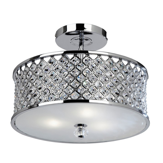 Hudson Ceiling Lamp In Chrome