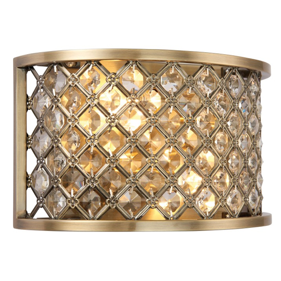 Hudson Wall Light In Antique Brass