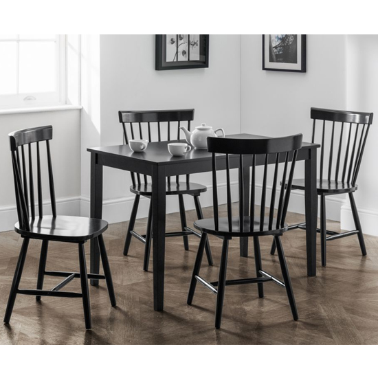 Hudson Wooden Dining Table In Lacquered Black_3