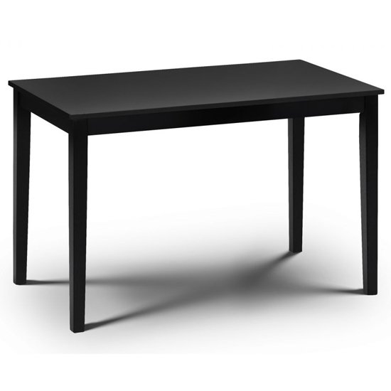 Hudson Wooden Dining Table In Lacquered Black