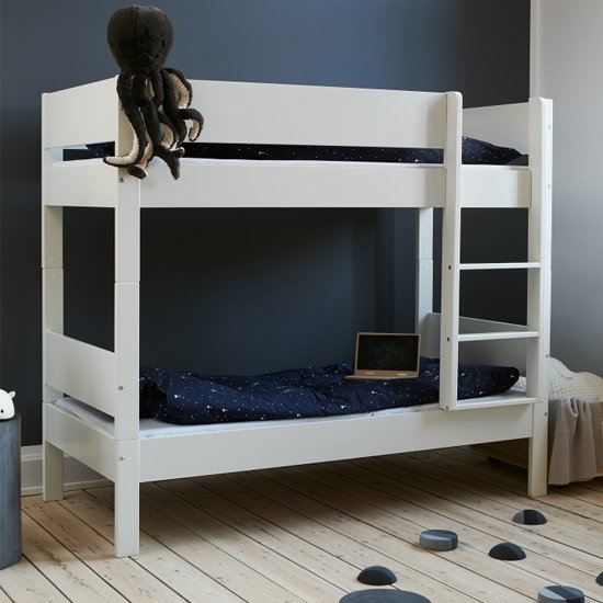 Huia Kids Wooden Bunk Bed In White