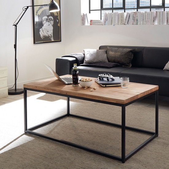 Humber Wooden Coffee Table Rectangular In Knotty Oak