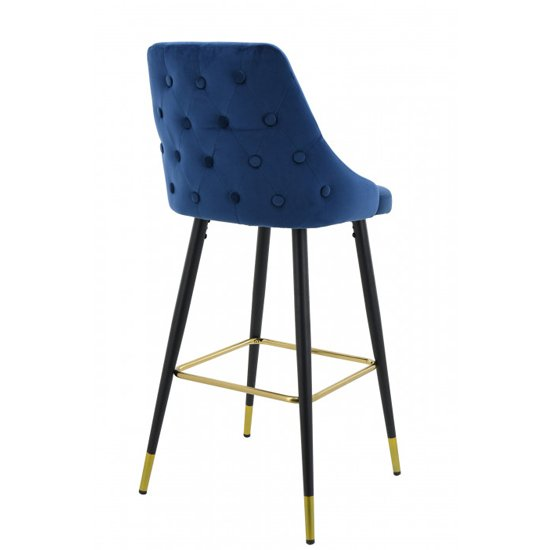 Hunter Blue Velvet Bar Stools In Pair_3