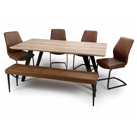 Hunter Dining Set With 4 Charlie Chairs And Charlie Bench_1