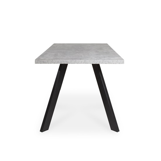 Hurley Dining Table Rectangular In Concrete effect_3