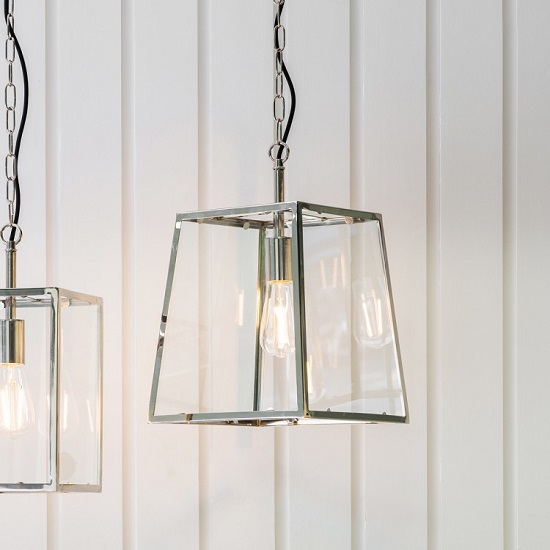 Hurst Pendant Light With Glass Frame