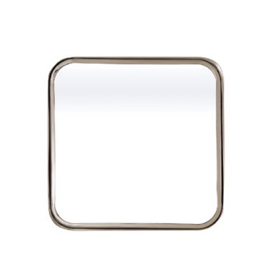 Huston Contemporary Wall Mirror Square In Nickel