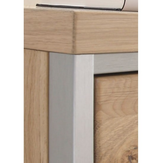Huxley Right Wall Mounted Cabinet In Bianco Oak With LED_3