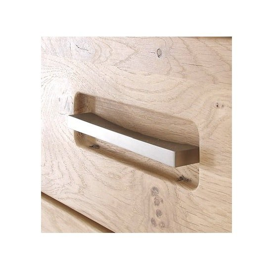 Huxley Right Wall Mounted Cabinet In Bianco Oak With LED_4