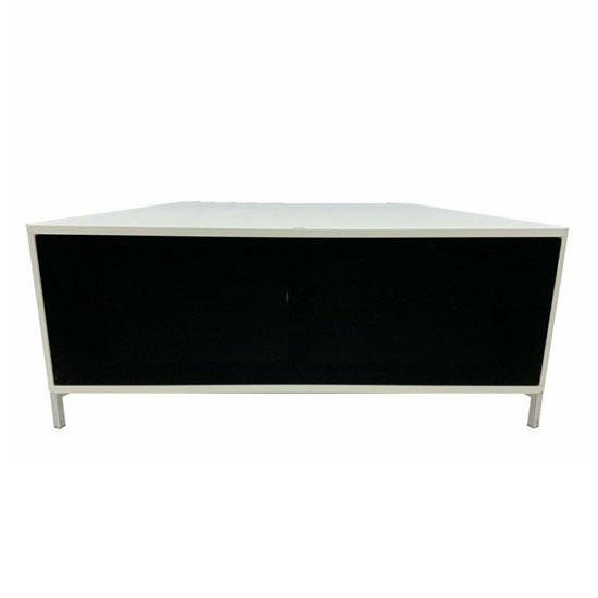 Hyde Wooden Large TV Stand In White With Chrome Feet