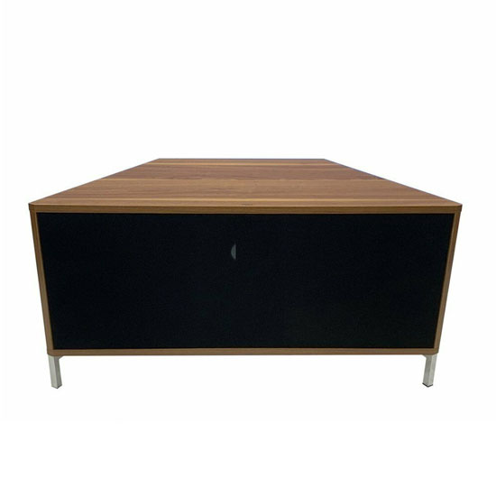 Hyde Wooden Small TV Stand In Walnut With Chrome Feet_1