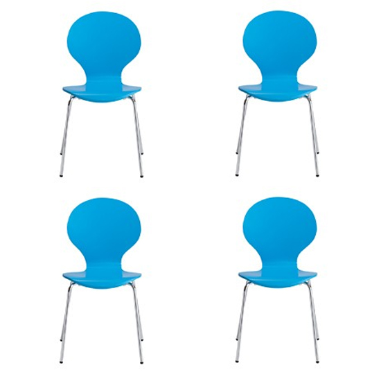 Ibiza Set Of 4 Dining Chairs In Blue