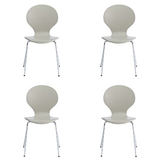 Ibiza Set Of 4 Dining Chairs In Stone