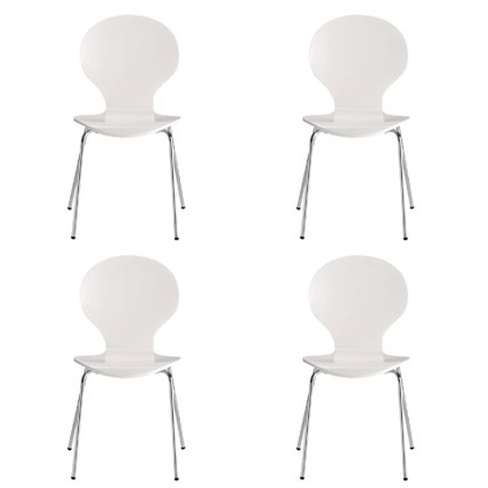 Ibiza Set Of 4 Dining Chairs In White