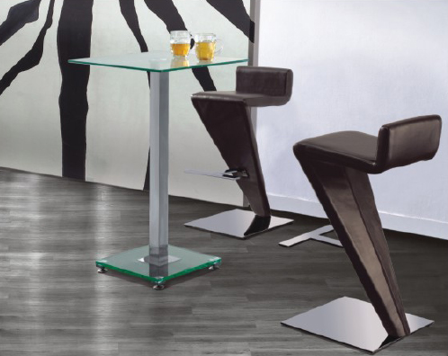 ice bar table with z stool2 - Nightclub Furniture That Puts Patron Safety First