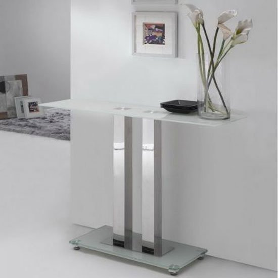 Top 30 cheapest glass console table uk prices best deals for White and glass console table