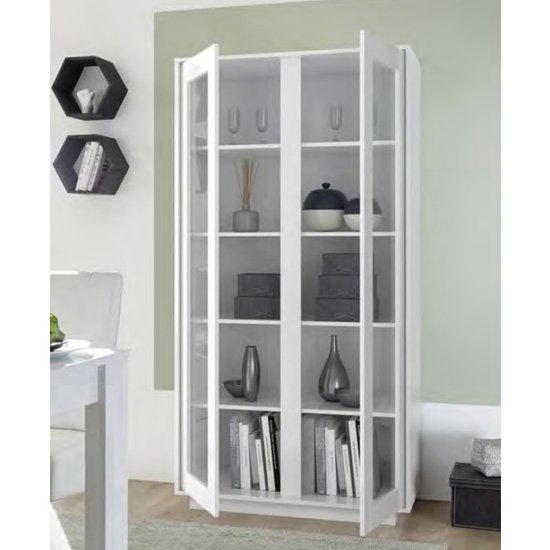 Iconic Wooden Display Cabinet In White High Gloss_2