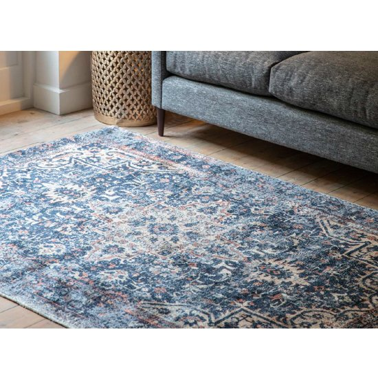 Iglezia Medium Fabric Upholstered Rug In Dark Teal_4