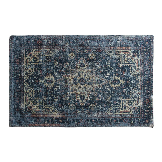 Iglezia Medium Fabric Upholstered Rug In Dark Teal_1