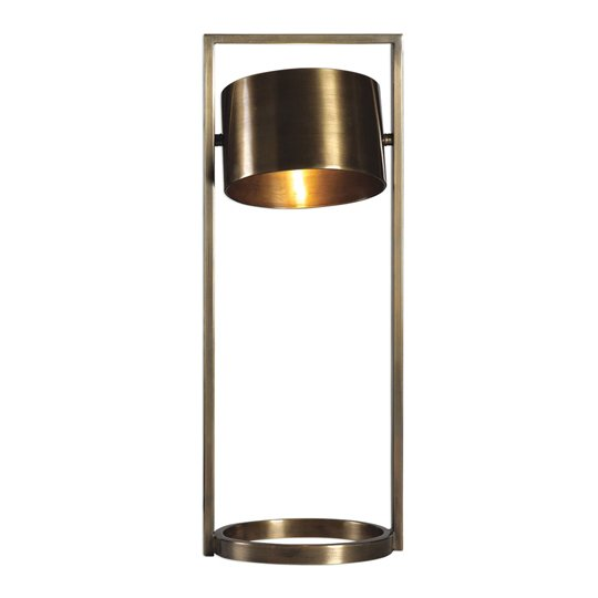 Ilario Antique Brass Table Lamp With Frosted Glass Diffuser
