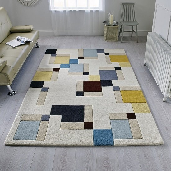 Illusion Abstract Blocks Rug_1