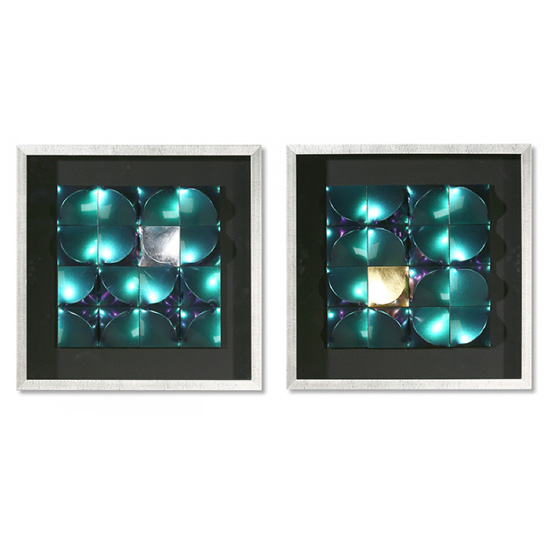 Illusion Picture Glass Wall Art In Silver Wooden Frame_1
