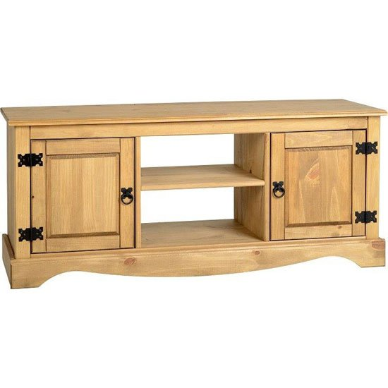 Corona Tv Unit 2 Door 1 Shelf Flat Screen Tv Unit In Wood
