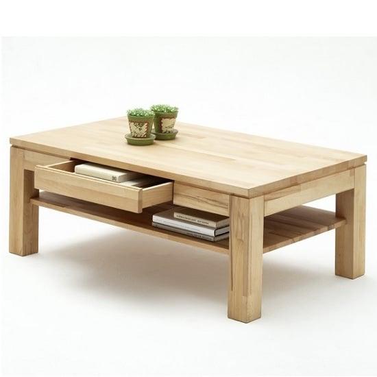 Beech Wood Coffee Table: Julien Wooden Coffee Table Rectangular In Beech Heartwood