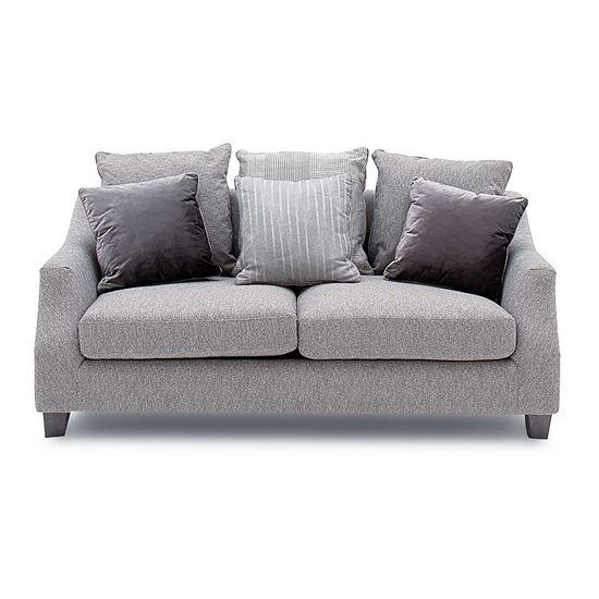 Imogen Fabric Upholstered 2 Seater Sofa In Grey_2