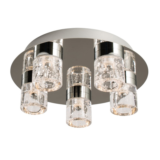 Imperial 5 Ceiling Lamp In Chrome