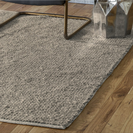 Imposta Polyster And Wool Fabric Rug In Beige