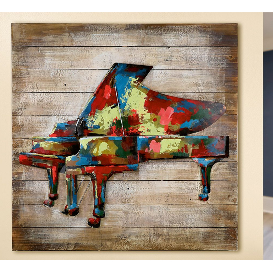 In Concert Picture Metal Wall Art In Multicolor