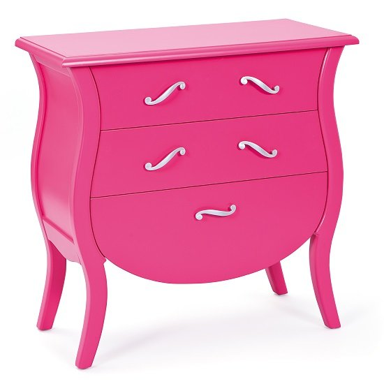 India Style Baroque Chest Of Drawers Painted Pink