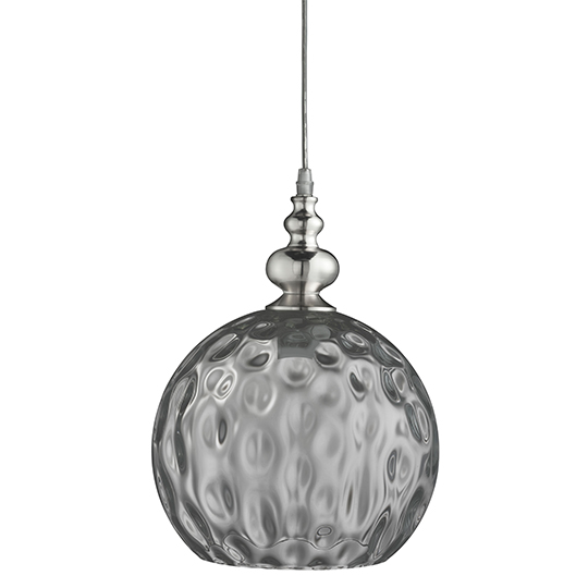 Indiana 1 Light Pendant Ceiling Light With Smoked Glass