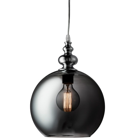 Indiana Globe Pendant Pendant In Chrome And Smoke Glass