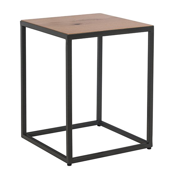 View Indio wooden side table in oak
