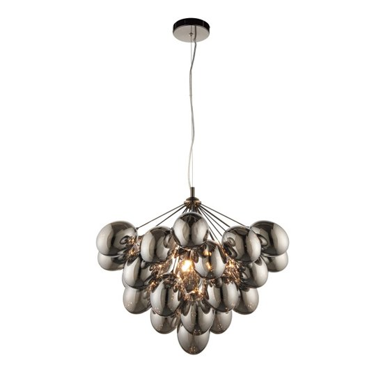 Infinity Wall Hung 6 Pendant Light In Black Chrome